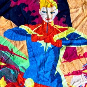 Captain Marvel Loot Crate Beach Towel